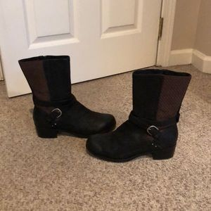 Ugg Australia Black Lulu Mae Heeled winter boot 10